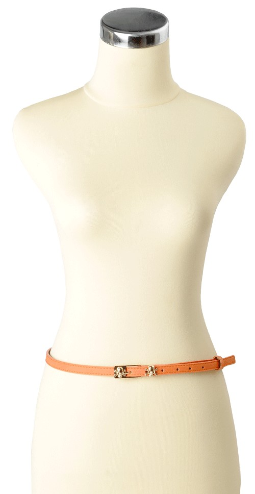 Miss Skully Skinny Belt Orange