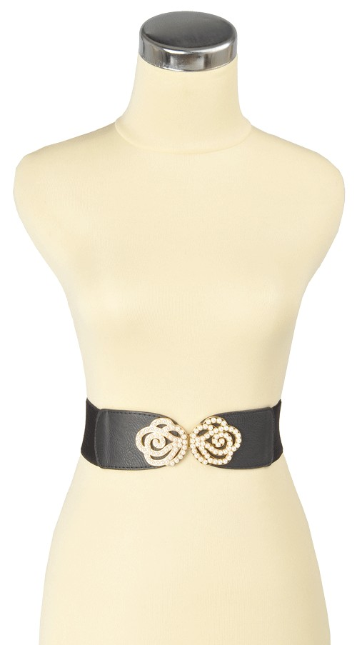 Minty Pearl Belt Black