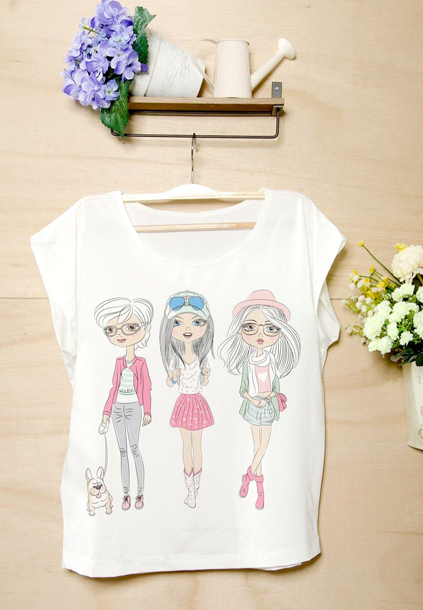 Three Pretty Girls T-Shirt