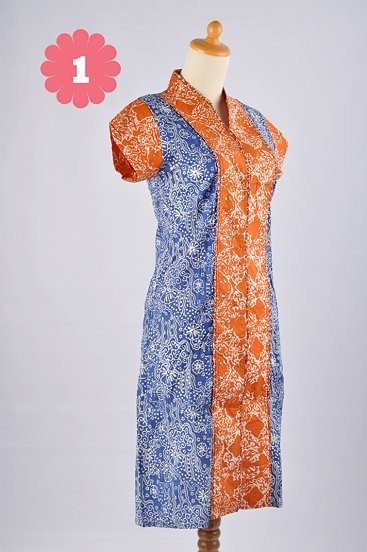 Batik Dress Listy