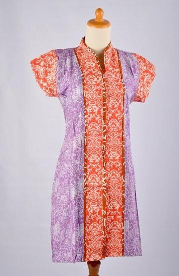 Batik Dress Pendek Listy